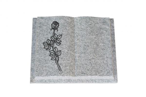Grabbuch, Viscount White Granit, 60cm x 45cm x 10cm, inkl. vertiefter Rose