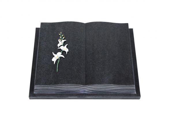Grabbuch, Indien Black Granit, 45cm x 35cm x 8cm, inkl. Lilie