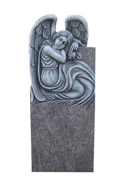 Urnengrabstein, Orion Granit 85cm x 37cm x 14cm, inkl. Engel