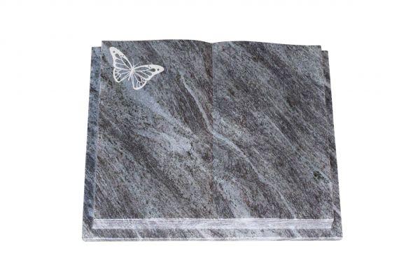 Grabbuch, Orion Granit, 40cm x 30cm x 8cm, inkl. Schmetterling