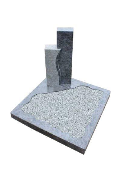 Urnengrabanlage, Orion Granit, poliert und geflammt