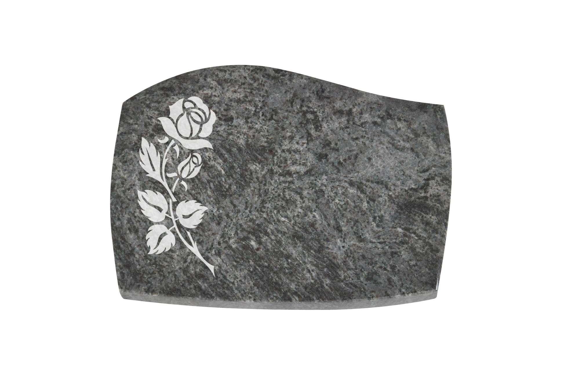 Liegestein Inschrift 40 x 30 x 3cm incl Grabstein