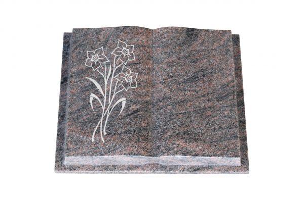 Grabbuch, Himalaya Granit, 60cm x 45cm x 10cm, inkl. Narzisse