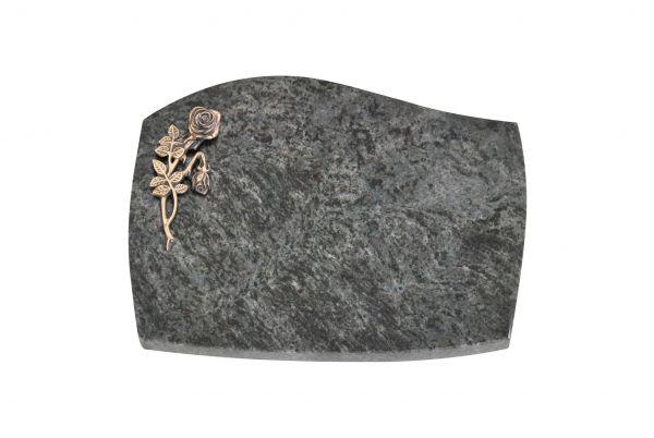Liegeplatte, Orion Granit mit Fasen 40cm x 30cm x 3cm, inkl. Knick Rose
