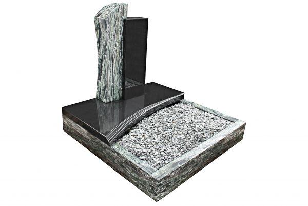 Urnengrabanlagen, Black und Wave Green Granit