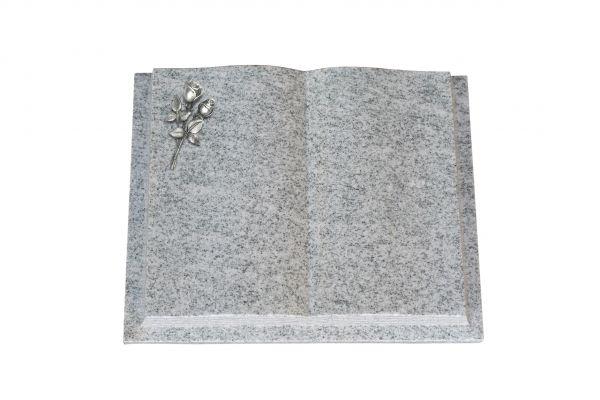 Grabbuch, Viscount White Granit, 50cm x 40cm x 10cm, inkl. kleiner Alurose