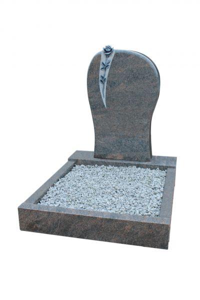 Urnengrabanlagen, Himalaya Granit, inkl. Ornament