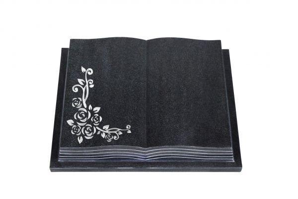Grabbuch, Indien Black Granit, 60cm x 45cm x 10cm, inkl. Eckrose