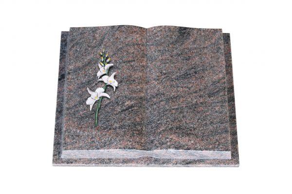 Grabbuch, Himalaya Granit, 45cm x 35cm x 8cm, inkl. Lilie